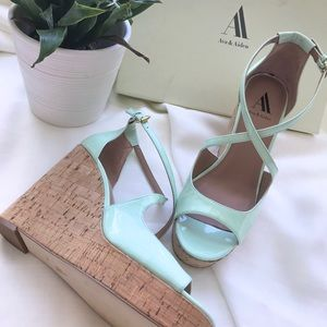 Ava & Aiden Mint Wedges